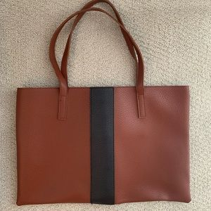 Vince Camuto Brown leather tote NEW